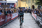 Peter Kennaugh (GBR) Bora-Hansgrohe at sign on before the start of the 99th edition of Milan-Turin 2018, running 200km from Magenta Milan to Superga Basilica Turin, Italy. 10th October 2018.<br /> Picture: Eoin Clarke | Cyclefile<br /> <br /> <br /> All photos usage must carry mandatory copyright credit (© Cyclefile | Eoin Clarke)