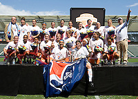 Sky Blue FC celebrates winning the WPS Championship match 1-0 over LA Sol at the Home Depot Center, Saturday, August 22, 2009.