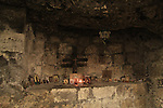 Israel, Lower Galilee, the cave from the Roman period beneath the Greek Orthodox Metropolite in Nazareth, the altar