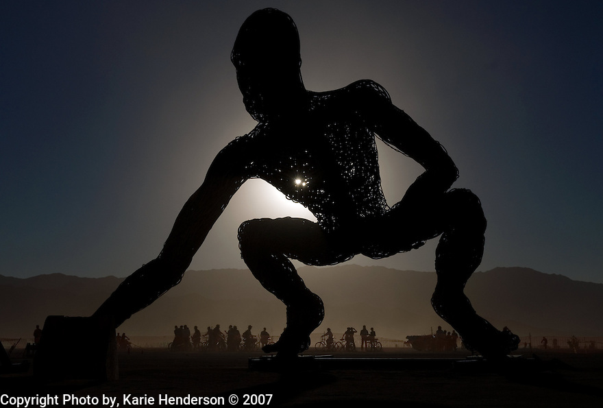 """Crude Awakening"" by Karen Cusolito, Mark Perez and Dan Das Mann made for the 21st annual Burning Man event. Saturday, August 9, 2007, Black Rock Desert, NV.  (Photo by, Karie Henderson, © 2007)"