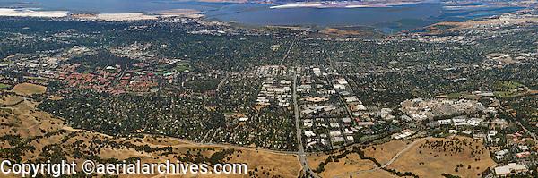 aerial photograph Stanford Research Park, Palo Alto, California