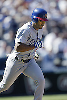 Corey Patterson of the Chicago Cubs runs the bases during a 2002 MLB season game against the San Diego Padres at Qualcomm Stadium, in San Diego, California. (Larry Goren/Four Seam Images)