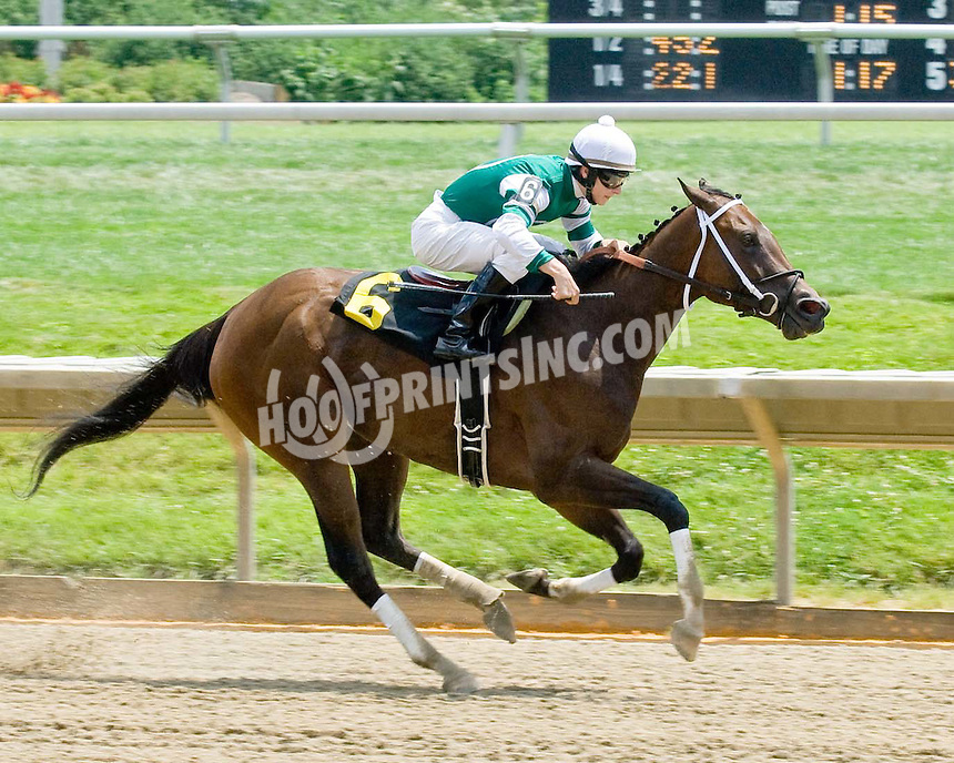 Lady Limit winning at Delaware Park on 7/4/09