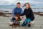 Taking their dog Bella for a walk on Ballyheigue beach on Saturday, l to r: Glenn and Pamela Roche.