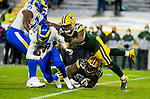 Green Bay Packers against the Los Angeles Rams during a NFC Divisional Round playoff game at Lambeau Field in Green Bay on Saturday, January 16, 2021.