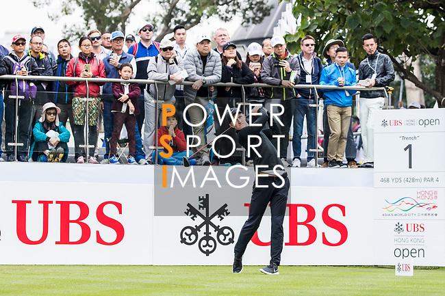 Marcus Kinhult of Sweden tees off during the day three of UBS Hong Kong Open 2017 at the Hong Kong Golf Club on 25 November 2017, in Hong Kong, Hong Kong. Photo by Yu Chun Christopher Wong / Power Sport Images