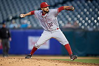 Syracuse Chiefs relief pitcher Rafael Martin (32) during a game against the Buffalo Bisons on May 18, 2017 at Coca-Cola Field in Buffalo, New York.  Buffalo defeated Syracuse 4-3.  (Mike Janes/Four Seam Images)