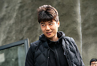 Ki Sung-Yueng of Newcastle United arriving ahead of the Premier League match between Brighton and Hove Albion and Newcastle United at the AMEX Stadium, Brighton and Hove, England on 27 April 2019. Photo by Liam McAvoy.