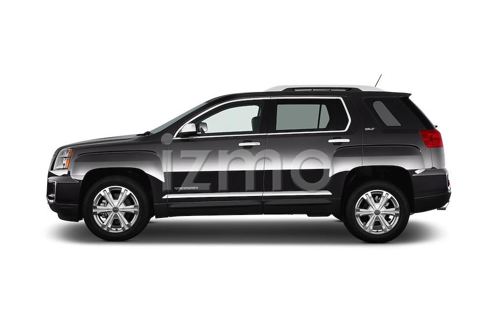 Car Driver side profile view of a 2017 GMC Terrain SLT 5 Door SUV Side View