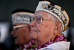 Pearl Harbor survivor Edgar Harrison waits for the beginning of the 71st Anniversary Pearl Harbor Day Commemoration at the Pearl Harbor Visitor Center in Honolulu, HI on, Dec. 7, 2012. .Photo by Cathleen Allison