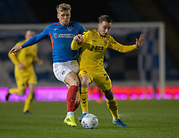 Fleetwood Town's Barrie McKay (right) battles for possession with Portsmouth's Cameron McGeehan (left) <br /> <br /> Photographer David Horton/CameraSport<br /> <br /> The EFL Sky Bet League One - Portsmouth v Fleetwood Town - Tuesday 10th March 2020 - Fratton Park - Portsmouth<br /> <br /> World Copyright © 2020 CameraSport. All rights reserved. 43 Linden Ave. Countesthorpe. Leicester. England. LE8 5PG - Tel: +44 (0) 116 277 4147 - admin@camerasport.com - www.camerasport.com
