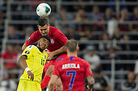 SAINT PAUL, MN - JUNE 18: Aaron Long of the United States during a 2019 CONCACAF Gold Cup group D match between the United States and Guyana on June 18, 2019 at Allianz Field in Saint Paul, Minnesota.