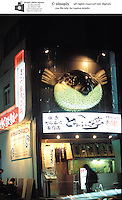 TOKYO: POISON BLOW FISH: FUGU: RESTAURANT: JAPAN.A Fugu restaurant in Tokyo. Blow fish is perpared in a restaurant in Tokyo by a spcially trained chef. Many parts of the blow fish is are lethally poisenous.  The fish must be prepared by a specially trained chef and the poisenous parts discarded in a special steel locked and registered container.  The delicacy is eaten mostly as sashimi.Photo by Richard Jones/sinopix.©sinopix
