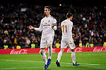 Sergio Ramos of Real Madrid celebrates goal during La Liga match between Real Madrid and RC Celta de Vigo at Santiago Bernabeu Stadium in Madrid, Spain. February 16, 2020. (ALTERPHOTOS/A. Perez Meca)