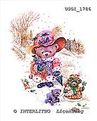 GIORDANO, CUTE ANIMALS, LUSTIGE TIERE, ANIMALITOS DIVERTIDOS, Teddies, paintings+++++,USGI1786,#AC# teddy bears
