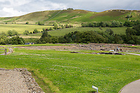 Northumberland,  England, UK.  Entrance to Vindolanda Roman Fort Excavation Site.