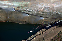 aerial photograph the McLaughlin Mine, Knoxville, Napa County, California, a gold and silver mine owned by Homestake Mining Company