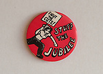 Fight the Cuts Stuff the Jubilee badge. The Queens Silver Jubilee. I got this at an anti Jubilee party on Wandsworth Common,London, the photographs have been mislaid.