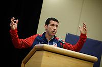 Bradenton, FL : Tab Ramos speaks to US Soccer athletes during a presentation in Bradenton, Fla., on January 4, 2018. (Photo by Casey Brooke Lawson)