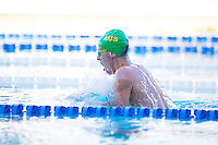 Santa Clara, California - Friday June 3, 2016: Mitchell Larkin races breaststroke during the Men's 400 LC Meter IM A final.