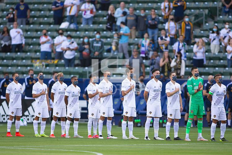 CARSON, CA - MAY 8: Los Angeles Galaxy starting eleven during a game between Los Angeles FC and Los Angeles Galaxy at Dignity Health Sports Park on May 8, 2021 in Carson, California.