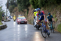 Early breakaway group riders Fabien Grellier (FRA/Total Direct Energie) & Cyril Gautier (FRA/B&B vital concept) <br /> <br /> 107th Tour de France 2020 (2.UWT)<br /> (the 'postponed edition' held in september)<br /> Stage 1 from Nice to Nice 156km<br /> ©kramon