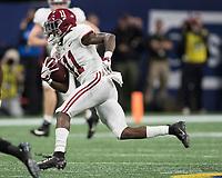 Atlanta, Georgia - December 1, 2018: Mercedes-Benz Stadium, the number 1 ranked University of Alabama Crimson Tide and the number 4 ranked Georgia Bulldogs for the SEC Championship.  Final score UGA 28, Alabama 35.