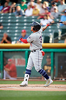 Oswaldo Arcia (31) of the Reno Aces bats against the Salt Lake Bees in Pacific Coast League action at Smith's Ballpark on June 15, 2017 in Salt Lake City, Utah. The Aces defeated the Bees 13-5. (Stephen Smith/Four Seam Images)