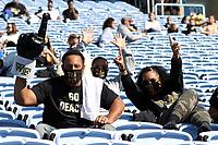 CHAPEL HILL, NC - NOVEMBER 14: Wake Forest fans during a game between Wake Forest and North Carolina at Kenan Memorial Stadium on November 14, 2020 in Chapel Hill, North Carolina.