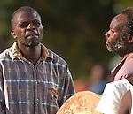 Drummer and Singer, Gulewamkulu ceremony, Mpalale village, Malawi