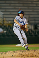 Tampa Tarpons pitcher Michael Giacone (22) during Game One of the Low-A Southeast Championship Series against the Bradenton Marauders on September 21, 2021 at LECOM Park in Bradenton, Florida.  (Mike Janes/Four Seam Images)