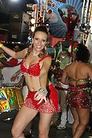 SAO PAULO, SP, 09 DE DEZEMBRO DE 2011, Bruna Fonseca, Princesa da X9 Paulistana, no LANÇAMENTO DO CD DA LIGA DAS ESCOLAS DE SAMBA 2012 na quadra da Escola de Samba Rosas de Ouro, zona norte de SP.  (FOTO: MILENE CARDOSO / NEWS FREE)