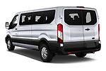 Car pictures of rear three quarter view of 2021 Ford Transit XLT 4 Door Passenger Van Angular Rear