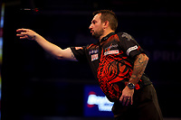 9th October 2021; Morningside Arena, Leicester, England; PDC BoyleSports Darts World Grand Prix finals ;  Jonny Clayton in action against Gerwen Price
