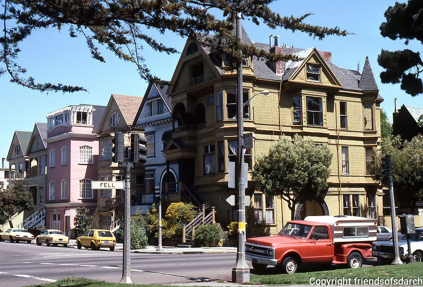 San Francisco: Fell St. Houses, North side of Park Panhandle.  Photo '84.