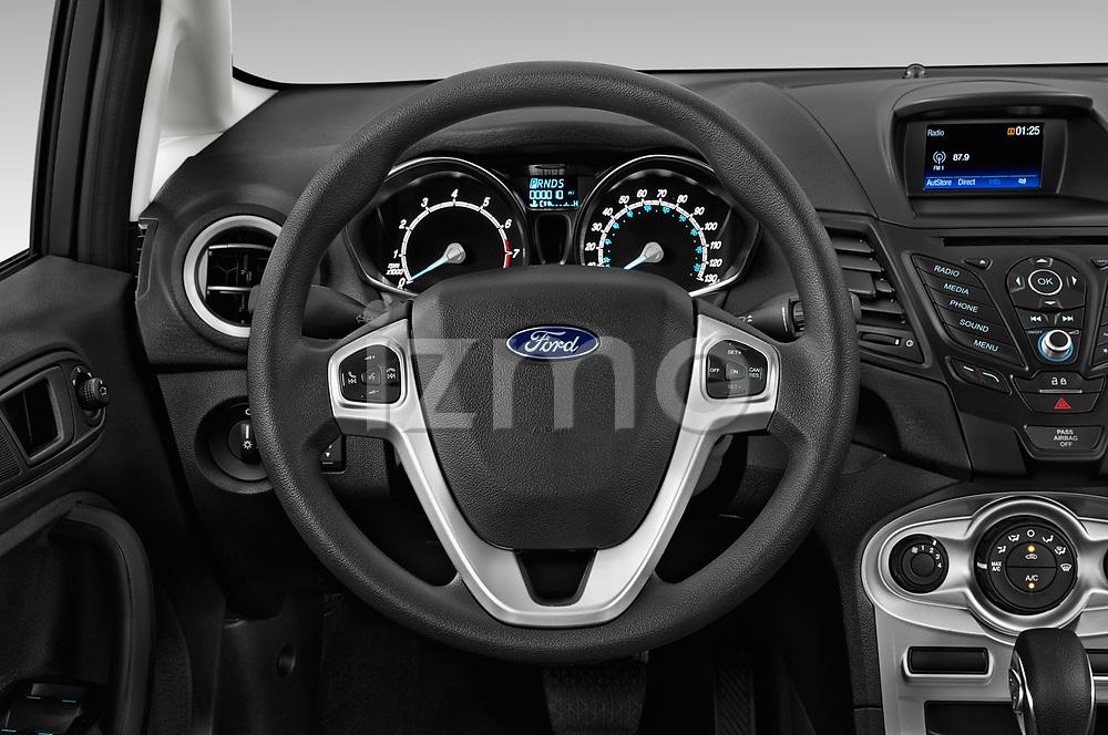 Car pictures of steering wheel view of a 2019 Ford Fiesta SE 5 Door Hatchback