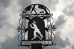Weald Kent, the village sign. Wealden iron industry is depicted as a reminder of past industry.  UK. 2013.