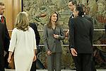 Princess Letizia of Spain attends audiences with a representation of the Royal Cavalry of Valencia (Real Maestranza de Caballeria de Valencia).January 10 ,2012. (ALTERPHOTOS/Acero)