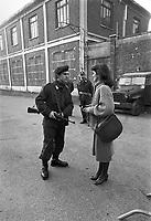 - Torino, servizio di sicurezza intorno alla caserma Lamarmora durante il processo al gruppo terroristico Brigate Rosse (marzo 1978)<br /> <br /> - Turin, security service around  Lamarmora barracks during the trial to terrorist group  Red Brigades (March 1978)