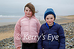 Enjoying a stroll in Banna beach on Sunday, l to r: Sophie and Darragh O'Connell.