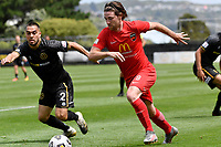 Garbhan Coughlan of Canterbury United during the ISPS Handa Men's Premiership - Team Wellington v Canterbury Utd at David Farrington Park, Wellington on Saturday 19 December 2020.<br /> Copyright photo: Masanori Udagawa /  www.photosport.nz