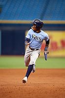 Vidal Brujan (2) runs the bases during the Tampa Bay Rays Instructional League Intrasquad World Series game on October 3, 2018 at the Tropicana Field in St. Petersburg, Florida.  (Mike Janes/Four Seam Images)