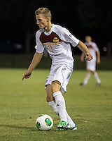 The Winthrop University Eagles played the College of Charleston Cougars at Eagles Field in Rock Hill, SC.  College of Charleston broke the 1-1 tie with a goal in the 88th minute to win 2-1.  Max Hasenstab (18)
