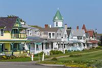 Victorian era homes on Ocean Avenue in Oak Bluffs, Massachusetts on Martha's Vineyard.