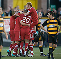 24/08/2010   Copyright  Pic : James Stewart.sct_jsp009_alloa_v_aberdeen  .:: RORY MCARDLE IS CONGRATULATED AFTER HE SCORES THE SECOND :: .James Stewart Photography 19 Carronlea Drive, Falkirk. FK2 8DN      Vat Reg No. 607 6932 25.Telephone      : +44 (0)1324 570291 .Mobile              : +44 (0)7721 416997.E-mail  :  jim@jspa.co.uk.If you require further information then contact Jim Stewart on any of the numbers above.........