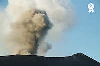 Vanuatu, Tafea, Tanna Island, smoke coming from Yasur Volcano (Licence this image exclusively with Getty: http://www.gettyimages.com/detail/200387532-001 )