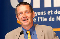 Undated  2001, Montreal, Quebec, Canada; <br /> Loyola candidate for  (Gerald Tremblay party) Union des Citoyens ;  Jeremy Searle during the Montreal municipal electoral campaign.<br /> <br /> Jeremy Searle is well known in Montreal as a staunch defender of the cityÌs heritage. In 1984, he formed the ø lÌaction Montr»al group which successfully fought the construction of an office building that would have closed McGill College Avenue at Ste. Catherine Street. He also led a campaign to save buildings with historic and architectural value from demolition in the Crescent/De Maisonneuve/Bishop/Sherbrooke block.<br /> <br /> <br /> Tremblay defeated opponent Pierre Bourque on November 4th 2001