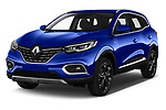 2019 Renault Kadjar Black-Edition 5 Door SUV angular front stock photos of front three quarter view