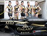 Racing queens pose for the Galaxy Double R Racing Team ahead of the 2011 Formula 3 Macau Grand Prix on 19th November 2011. © Raf Sanchez / PSI for Galaxy Macau