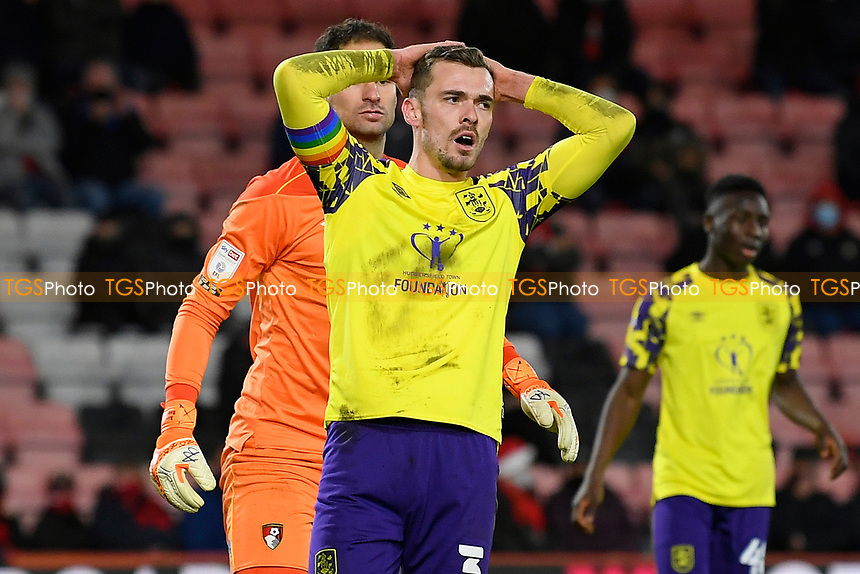 Harry Toffolo of Huddersfield Town rues a missed chance during AFC Bournemouth vs Huddersfield Town, Sky Bet EFL Championship Football at the Vitality Stadium on 12th December 2020
